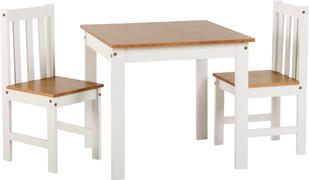 Ludlow 1+2 Dining Set-White