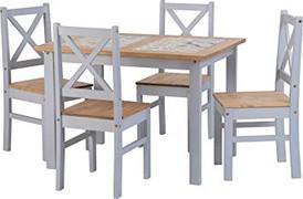 Salvador 1+4 Tile Top Dining Set-Grey