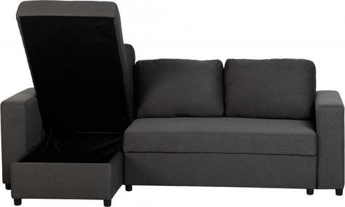 Dora Corner Sofa Bed-Dark Grey