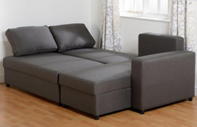 Dora Corner Sofa Bed-Dark Grey