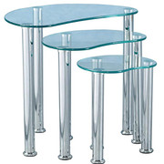 Cara Nest of Tables-Clear