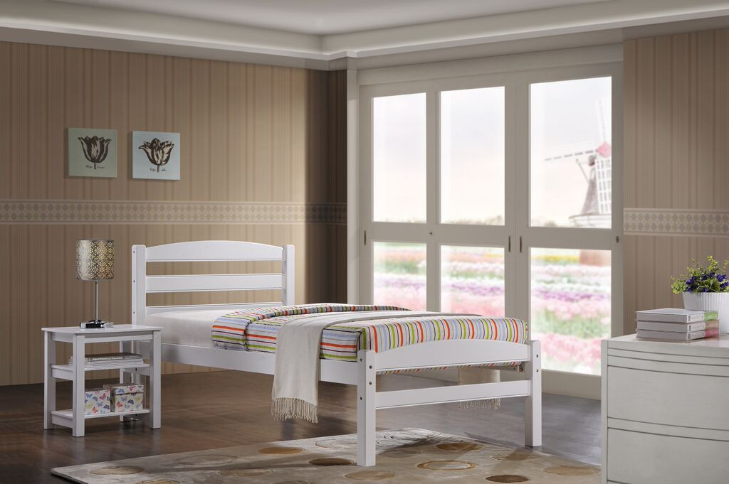 6cdd8d2de38 Maria White 3ft Single Bed - Ideal Furniture
