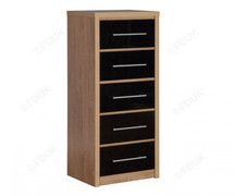 Seville 5 Drawer Chest-Black