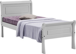 Georgia 3' Sleigh Bed-Grey