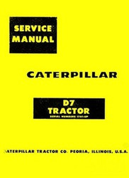 Carerpillar D7 D-7 Crawler Tractor SN 17A1-up  Service Manual Cat