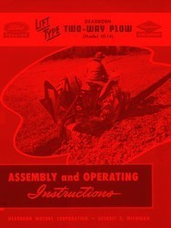 Ford 10- 151 152 153 156 157 158 159 161 214 216 3 Bottom Plow Operators Manual