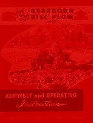 Ford 10-80 Lift Type Disc Plow Owners Assembly Operators Manual FD