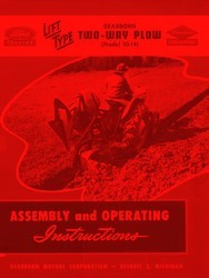 Ford 10- 260 207 208 209 210 211 212 215 217  Two 2 Bottom Plow Operators Manual