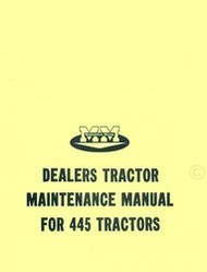 Minneapolis Moline 445 Tractor Dealer Maintenance Service Manual