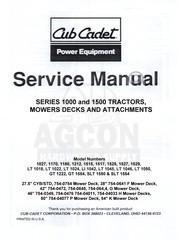 CUB CADET GT 1554, SLT 1550 & SLT 1554 Service Manual - Shop