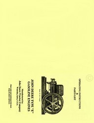J. Deere Type E Hit & Miss Engine Operators Part Manual