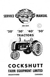 Cockshutt 20 40 50 Co-oP E2 E3 E4  E5 Tractor Shop Service Manual