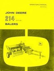 John Deere 214 214T 214-T 214W 214-W 214WS 214-WS Baler Operators Manual