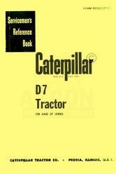 CATERPILLAR D7 D-7 7M 3T 7 M  3 T Service Manual Cat