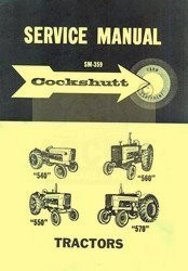 Cockshutt 540 550 560 570 Tractor Service Repair Manual