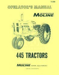 Minneapolis Moline 445 Tractor Operators Manual
