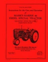 massey harris 44 diesel special operators servic manual