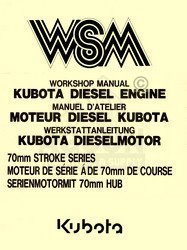 Kubota 70mm Z500 Z600 ZH600 D650 D750 B Service Manual
