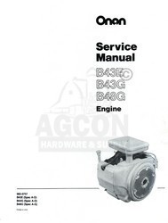 ONAN B43E B43G B48G Engine Service Shop Manual 965-0757