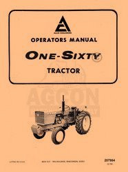 ALLIS CHALMERS 160 One Sixty Owners Operators Manual