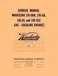 Waukesha 195-GKA 195-GK 195-GL 195-GLC Service Manual