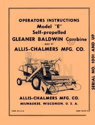 Reputation First Manuals Allis Chalmers Gleaner Combines Booklets