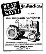 John Deere LA Tractor Parts Manual Catalog JD 1941-1946