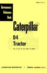 CATERPILLAR D4 D-4 4G 7J 2T ST 6U 7U Service Manual Cat