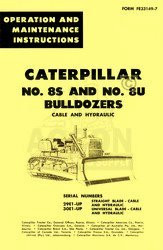 CATERPILLAR 8S 8U Bulldozers Cable Hy OPERATORS MANUAL