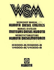 Kubota D3000 D3200 V4000 V4300 B Engine Service Manual