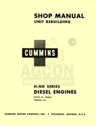 Cummins H NH Diesel Engine 4 6 Cyl. Shop Service Manual