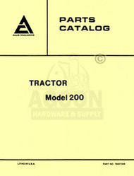 ALLIS CHALMERS 200 Tractor Parts Catalog Manual AC