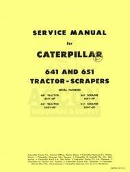 CATERPILLAR 641 651 TRACTOR SCRAPER SHOP SERVICE MANUAL