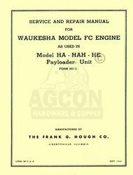 Waukesha FC Engine HA HAH HE Payloader Service Manual