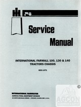 FARMALL 100 130 & 140 Tractor Chassis Service Manual IH