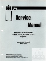 FARMALL 100 130 140 200 230 240 Engine Service Manual