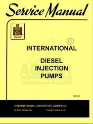 INTERNATIONAL Fuel Injection Pump Test Specs Manual IH