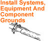 INSTALL SYSTEM EQUIPMENT COMPONENT GROUND Electrician