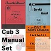 FARMALL CUB TRACTOR SERVICE OPERATOR PART 3 Manual Set
