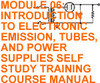 INTRO. TO ELECTRONIC EMISSION TUBE & POWER SUPPLIES CD