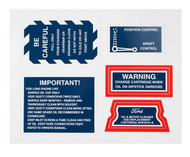 DECAL SET Ford 2N 2-N 9N 9-N Tractor