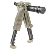 Mako T-PodG2-SL FDE Tactical Foregrip with Integrated Adjustable Bipod and Incorporated Flashlight - Gen 2-FDE