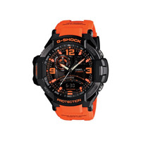 Casio G-Shock Men's Analog-Digital Orange Resin Strap Watch 51x52mm GA1000-4A