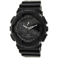 Casio G-Shock Men's Black Resin Strap Watch GA100-1A1
