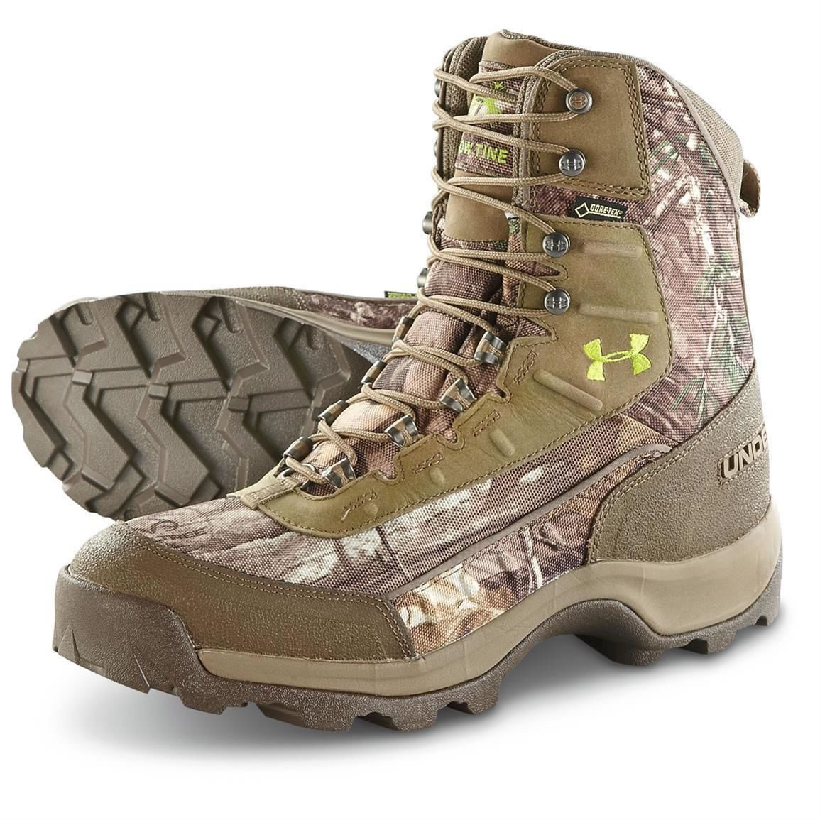 ae1ae0e5124 Under Armour Men's Brow Tine Insulated Hunting Boots Realtree Xtra Camo 800  Gram