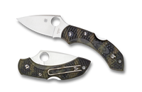 Spyderco Dragonfly 2 Plain Edge Folding Knife Zome Green C28ZFPGR2