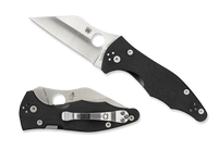Spyderco Yojimbo 2 G-10 Plain Edge Blade Pocket Knife Black C85GP2
