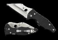 Spyderco Yojimbo 2 G-10 Plain Edge Blade Pocket Knife Black C85GP2