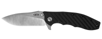 "Zero Tolerance Hinderer 0562CF Flipper 3.5"" CPM-20CV Satin Stonewashed Plain Blade Carbon Fiber"