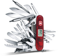 Victorinox Swiss Army SwissChamp XAVT Multi-Tool, Translucent Ruby, 1.6795.XAVT 53509